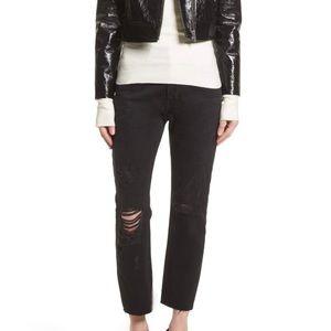 Frame 'Le Original' High Straight Jean in Black
